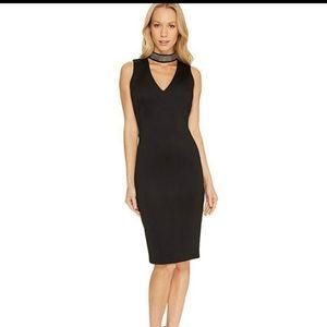 Calvin Klein Black Studded Choker style Dress